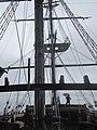 Me and umbrella on Magellen's ship Victoria Replica Nao Victoria Museum Punta Arenas.jpg
