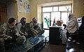 Members of the Farah Provincial Reconstruction Team speaking in Farah City (121229-N-IE116-099 (8338892212)).jpg