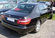 Mercedes-Benz W212 E 220 CDI BlueEfficiency Obsidianschwarz Heck.JPG