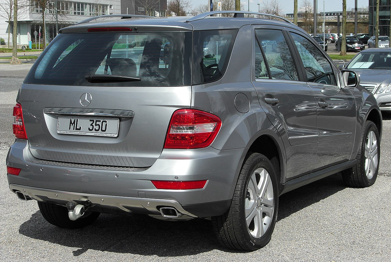 file mercedes ml 350 cdi 4matic w164 facelift rear wikimedia commons. Black Bedroom Furniture Sets. Home Design Ideas