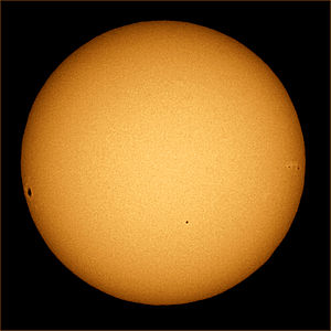 Tests of general relativity - Image: Mercury transit 2