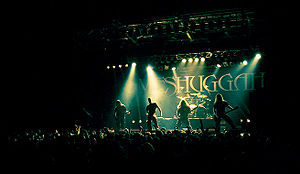 Swedish band Meshuggah performing on a live sh...
