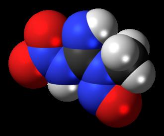 Methylnitronitrosoguanidine - Image: Methylnitronitrosogu anidine 3D spacefill