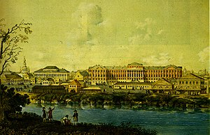 Moscow State University - Main buildings of the university in Mokhovaya Street, 1798