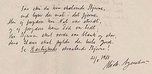 Michael Agerskov -  A sample of Michael Agerskov's handwriting