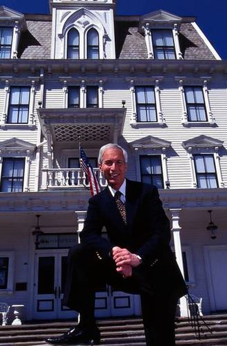 Michael P. Price - Michael P. Price in front of the Goodspeed Opera House