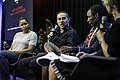 Michael Rubin on a panel about criminal justice reform with Maya Moore and Clinton Yates at the Marshall Project in Washington DC (48754198332).jpg