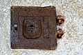Micheldorf Lorenzenberg 68 Filialkirche hl Laurentius Westwand Tabernakel 07082014 057.jpg