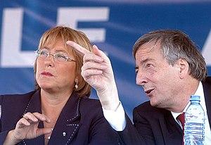 Michelle Bachelet N%C3%A9stor Kirchner7