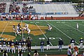 Midwestern State vs. Texas A&M–Commerce football 2015 20 (Midwestern State punting).jpg