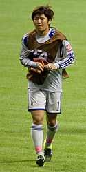 Miho Fukumoto FIFA Women's World Cup CMR vs JPN June 12th, 2015.jpg