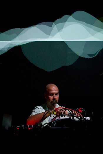 Mika Vainio (Pan Sonic) photos by Randy Yau
