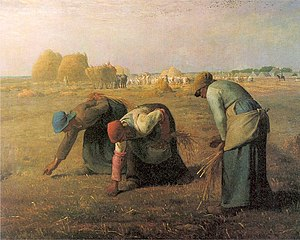 1857 in art - Millet – The Gleaners