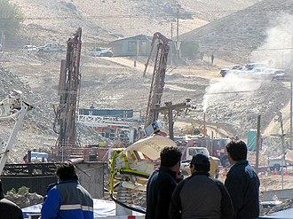 San José Mine - San José de Copiapó mine during the 2010 mining accident rescue efforts, on August 10.