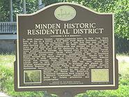 Minden, LA Historic Residential District sign IMG 7320