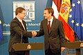 Ministru prezidents Valdis Dombrovskis tikās ar Spānijas valdības prezidentu Hosē Rodrigesu Sapatero (4138504666).jpg