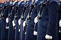 Ministru prezidents Valdis Dombrovskis vēro Nacionālo bruņoto spēku vienību militāro parādi 11.novembra krastmalā (6357760511).jpg