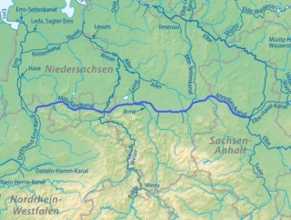 major canal in central Germany