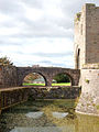 Moat and Bowling Green Bridge, Raglan Castle - geograph.org.uk - 1531253.jpg