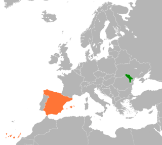 Diplomatic relations between Moldova and the Kingdom of Spain