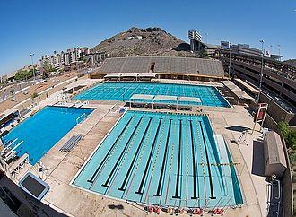 Mona Plummer Aquatic Center - A view of the facility.
