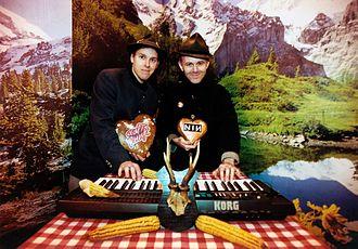"Monochrom - monochrom's Johannes Grenzfurthner and Franz Ablinger (at monochrom's ""Pension MIDI"", Klangturm St. Pölten, 2001)"