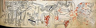 Simon de Montfort's Parliament - A 13th-century depiction of the mutilation of Simon de Montfort's body following the Battle of Evesham in 1265