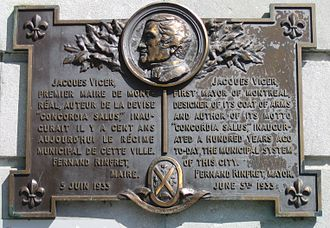 Jacques Viger (mayor) - Plaque honouring Viger in Vauquelin Square