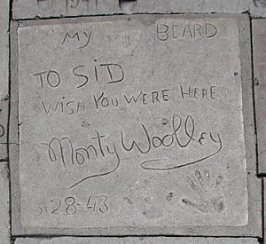 Monty Woolley - Hand and beard print at Grauman's Chinese Theatre.