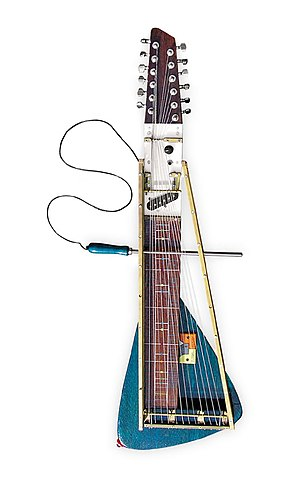 Moodswinger - In 2006 luthier Yuri Landman built the Moodswinger, a 12 string overtone zither.