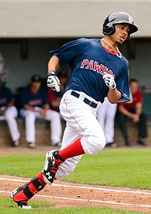 Betts playing for the Pawtucket Red Sox in 2014 5465cea58e7