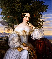 Moritz Daniel Oppenheim - Marriage Portrait of Charlotte de Rothschild - Google Art Project