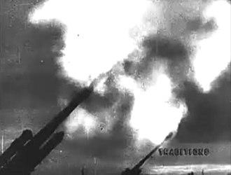 Moscow Strikes Back - Anti-aircraft guns fire at night