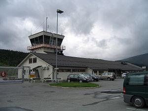 Mosjøen Airport, Kjærstad - Image: Mosjøen lufthavn MJF 2006 07 17