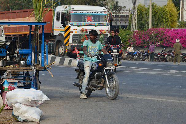 Motorcycle, Udaipur.jpg