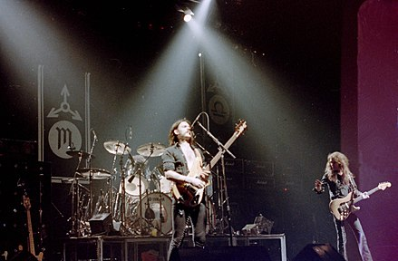 Motorhead playing at Port Talbot in 1982 Motorhead Port Talbot 1982.jpg