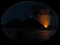 Mount Vesuvius at night, showing an eruption of smoke fire a Wellcome V0025248.jpg