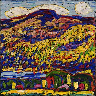 Bates College Museum of Art - Image: Mountain Lake, Marsden Hartley