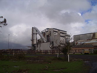 Cyclone Larry - The Mourilyan sugar mill after the cyclone