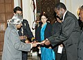 Mr. Marten N. Kapewasha High Commissioner of Namibia presented his credentials to the President Dr. APJ Abdul Kalam at Rashtrapati Bhavan on 8th December, 2005.jpg