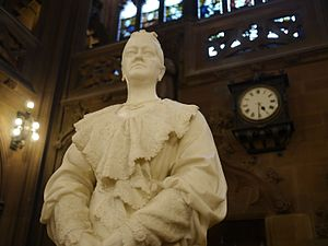 Enriqueta Augustina Rylands - statue by John Cassidy in the library she created