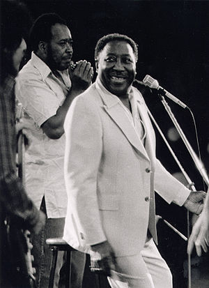 British rhythm and blues - Muddy Waters, a major influence on the movement, pictured in 1971