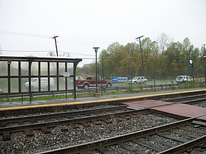 Muirkirk MARC Station South Platform.JPG