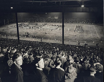 A night football game at Providence Park (then known as Multnomah Stadium) Multnomah Stadium football game.jpg