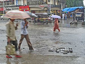 The monsoons in Mumbai creates waterlogging in...