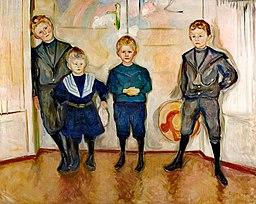 Munch Czterej synowie doktora Maxa Linde (1903)