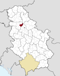 Location of the municipality of Stara Pazova within Serbia
