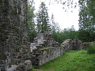 Munkeby Abbey - View of the ruins