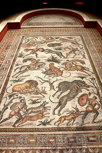 Art & History Museum - Image: Musée Cinquantenaire Mosaïque de la Chasse 01