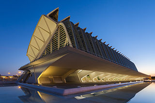 Science museum in City of Arts and Sciences - Valencia